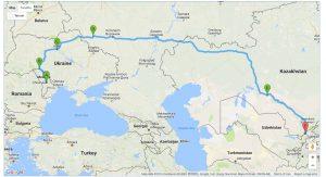 Путь, который мы проехали на LADA 21310, из Молдовы в Узбекистан