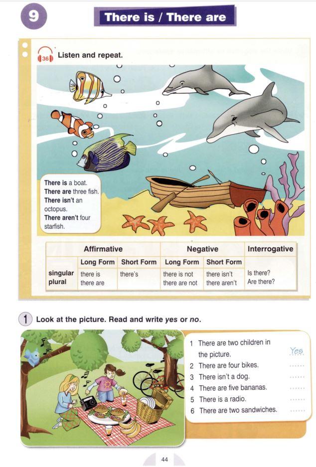 Английская грамматика: страница книги Round-Up Starter