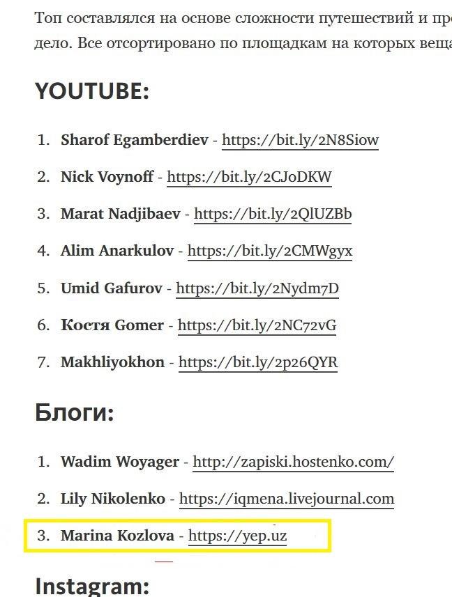 Топ тревел-блогеров Узбекистана
