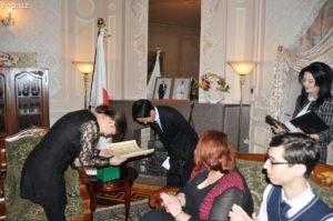Церемония награждения в резиденции посла Японии в Узбекистане