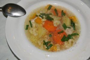 Суп из куриной грудки с картофелем и лапшой