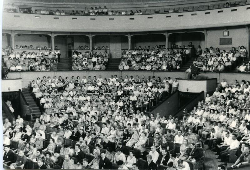 Концертный зал Свердлова внутри, 1964 год