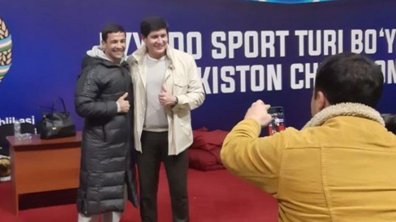 Камолиддин Расулрв (слева) с зятем президента Отабеком Умаровым